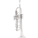 B&S 3137 Challenger I Series Bb Trumpet  SIlver Plated Finish