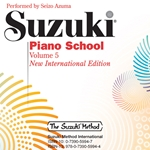 Suzuki Piano School 5 International CD