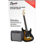 Squier Affinity Series Stratocaster HSS Pack with 15 Watt Amp