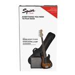 Squier Affinity Series Precision Bass PJ Pack Brown Sunburst Rumble 15