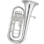 "Jupiter JEP1000S Euphonium .570 Bore 11"" Bell 4 Top Action Valves Silver Plated"