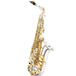 Jupiter JAS1100SG Performance Alto Sax  Silver Plated Body Gold Lacquered Keys