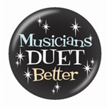 721142 Button Musicians Duet Better 1 3/4""
