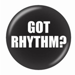 721153 Button Got Rhythm 1 3/4""