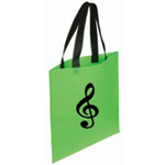 "5003026 Clef Bag Lime Green 13.5""W x 14""H"
