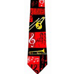 130258 Music Tie Trombone & Cleff Poly Blend 4""