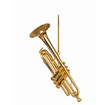 463008 Trumpet Ornament Gold 2.50""