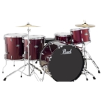 Pearl Roadshow Drum Set 5 Piece with Cymbals Roadshow Red Wine
