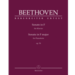 Beethoven Piano Sonata F Major Op 54 Urtext