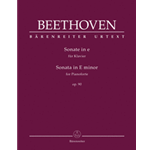 Beethoven Piano Sonata E minor Opus 90 Urtext
