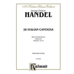 28 Italian Cantatas with Instruments, Volume III, Nos. 16-23 (Various Voices) Voice