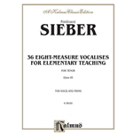 36 Eight-Measure Vocalises for Elementary Teaching Voice Tenor