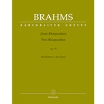 Brahms Two Rhapsodies Piano Solo Op 79