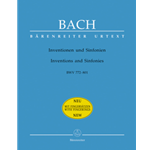 Bach JS Inventions and Sinfonias for Piano BWV 772-801 Urtext
