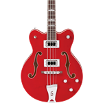 Gretsch G5442BDC Electromatic - Hollow Body Short-Scale Bass - Transparent Red
