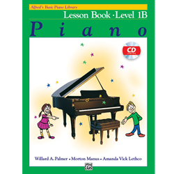 Alfred's Basic Piano Library Lesson Book 1B with CD