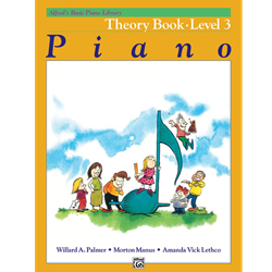 Alfred's Basic Piano Library Theory Book 3