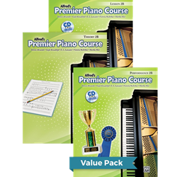 Alfred's Premier Piano Course Lesson Theory & Performance 2B Value Pack