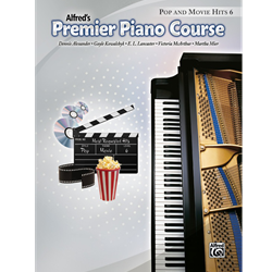 Alfred's Premier Piano Course, Pop and Movie Hits 6
