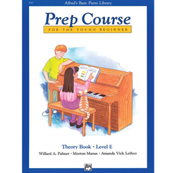 Alfred's Basic Piano Library Prep Theory E