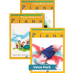 Alfred's Basic Piano Library Lesson Theory Recital 3 Value Pack