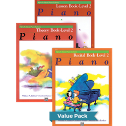 Alfred's Basic Piano Library Lesson Theory Recital 2 Value Pack