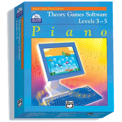 Alfred's Basic Piano Library Theory Games Software 3-5