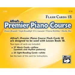 Alfred's Premier Piano Course, Flash Cards 1B
