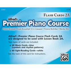 Alfred's Premier Piano Course, Flash Cards 2A
