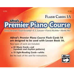 Alfred's Premier Piano Course, Flash Cards 1A