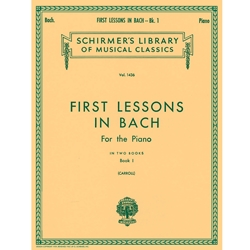 1st Lessons In Bach Book 1: Schirmer Library of Classics Volume 1436