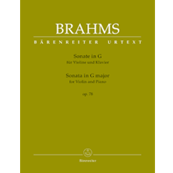 Brahms Violin and Piano Sonata in G Major Op 78  Urtext